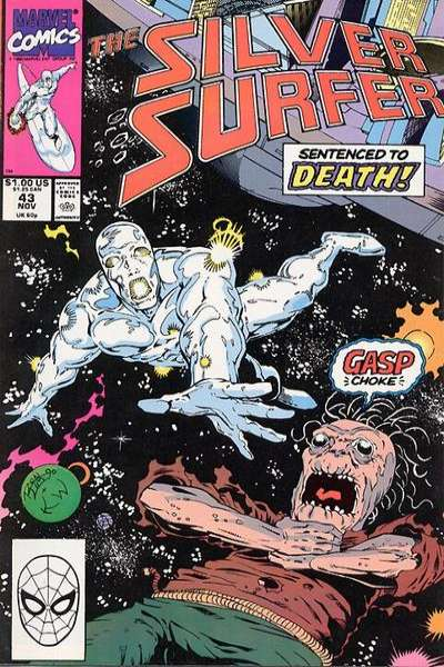 Silver Surfer #43 Comic Books - Covers, Scans, Photos  in Silver Surfer Comic Books - Covers, Scans, Gallery