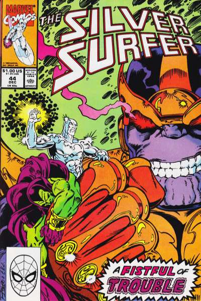 Silver Surfer #44 Comic Books - Covers, Scans, Photos  in Silver Surfer Comic Books - Covers, Scans, Gallery