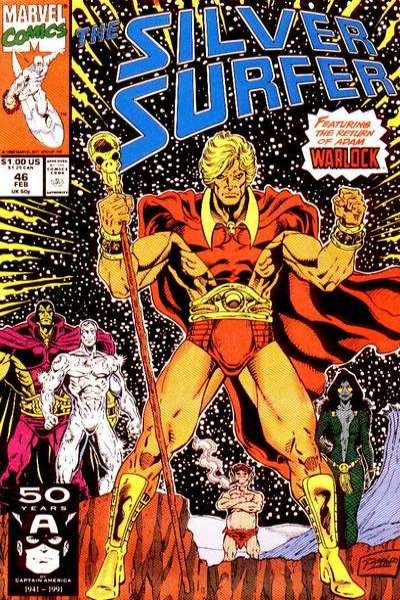 Silver Surfer #46 Comic Books - Covers, Scans, Photos  in Silver Surfer Comic Books - Covers, Scans, Gallery