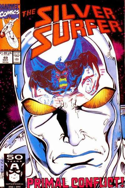 Silver Surfer #49 Comic Books - Covers, Scans, Photos  in Silver Surfer Comic Books - Covers, Scans, Gallery