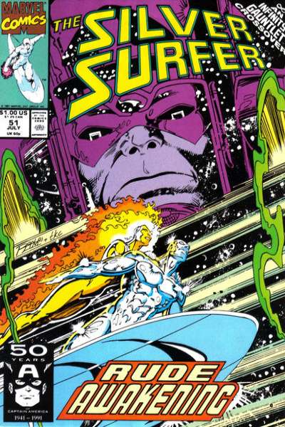 Silver Surfer #51 Comic Books - Covers, Scans, Photos  in Silver Surfer Comic Books - Covers, Scans, Gallery