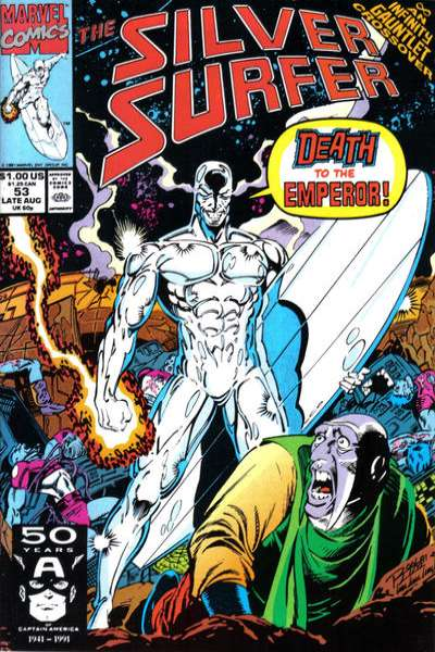 Silver Surfer #53 comic books - cover scans photos Silver Surfer #53 comic books - covers, picture gallery