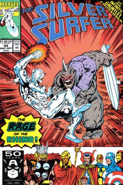Silver Surfer #54 Comic Books - Covers, Scans, Photos  in Silver Surfer Comic Books - Covers, Scans, Gallery