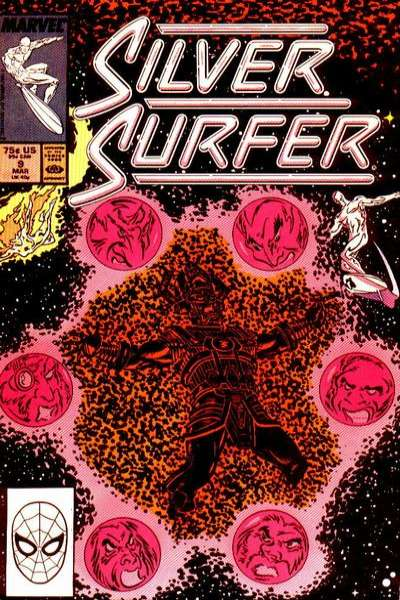 Silver Surfer #9 comic books - cover scans photos Silver Surfer #9 comic books - covers, picture gallery