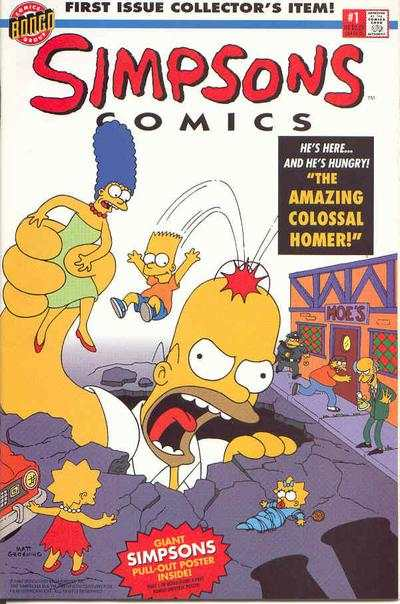 Simpsons Comics #1 Comic Books - Covers, Scans, Photos  in Simpsons Comics Comic Books - Covers, Scans, Gallery