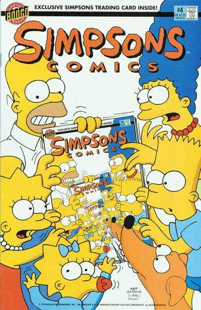 Simpsons Comics #4 comic books for sale