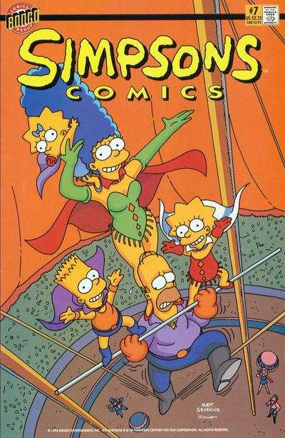 Simpsons Comics #7 comic books for sale