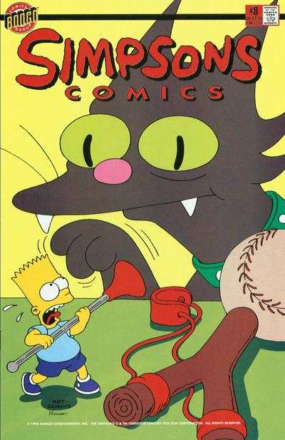 Simpsons Comics #8 comic books for sale