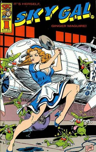 Sky Gal #1 Comic Books - Covers, Scans, Photos  in Sky Gal Comic Books - Covers, Scans, Gallery