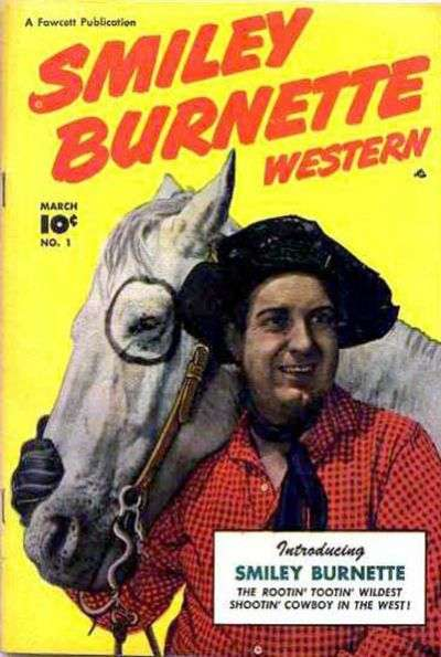 Smiley Burnette Western comic books