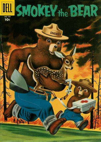 Smokey the Bear #2 comic books - cover scans photos Smokey the Bear #2 comic books - covers, picture gallery