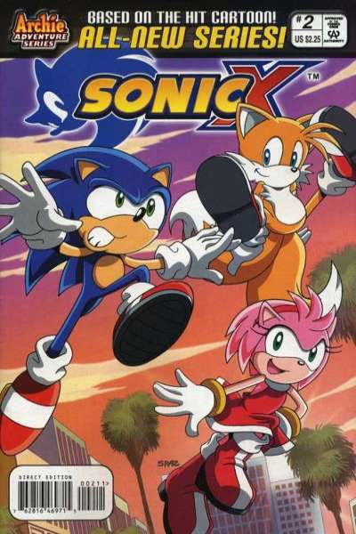 Sonic X #2 Comic Books - Covers, Scans, Photos  in Sonic X Comic Books - Covers, Scans, Gallery