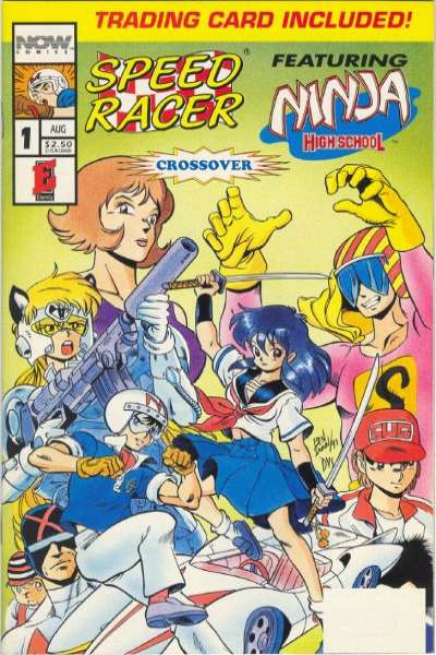 Speed Racer featuring Ninja High School comic books