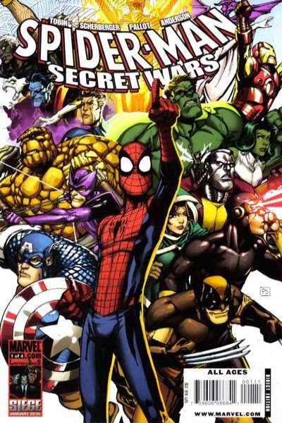 Spider-Man Secret Wars comic books