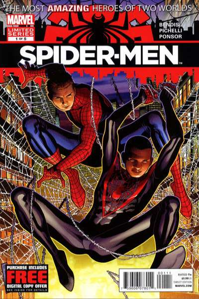 Spider-Men #1 Comic Books - Covers, Scans, Photos  in Spider-Men Comic Books - Covers, Scans, Gallery