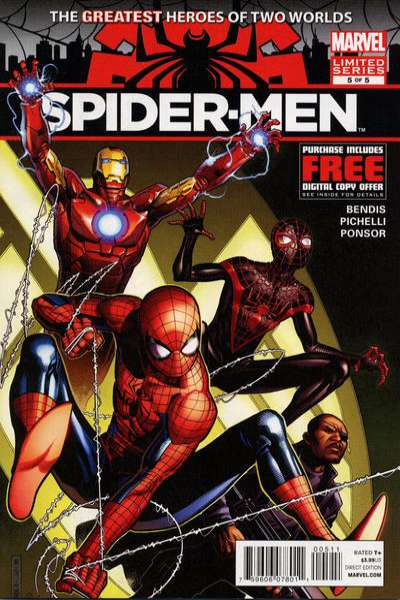 Spider-Men #5 Comic Books - Covers, Scans, Photos  in Spider-Men Comic Books - Covers, Scans, Gallery