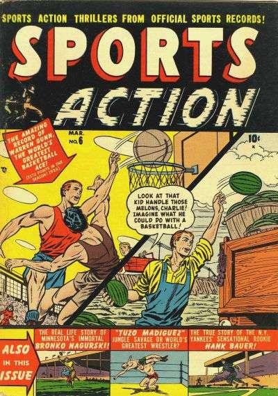 Sports Action #6 comic books - cover scans photos Sports Action #6 comic books - covers, picture gallery