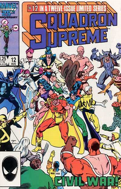 Squadron Supreme #12 Comic Books - Covers, Scans, Photos  in Squadron Supreme Comic Books - Covers, Scans, Gallery