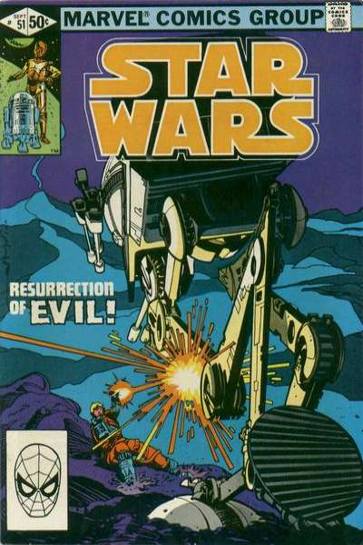 Star Wars #51 comic books - cover scans photos Star Wars #51 comic books - covers, picture gallery