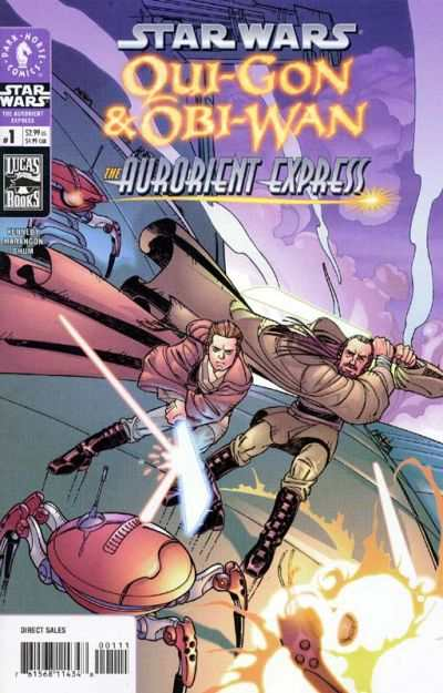 Star Wars: Qui-Gon & Obi-Wan - The Aurorient Express #1 comic books - cover scans photos Star Wars: Qui-Gon & Obi-Wan - The Aurorient Express #1 comic books - covers, picture gallery