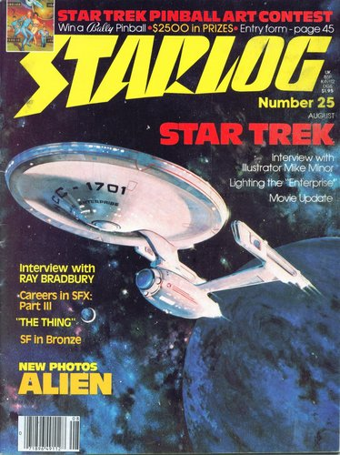 Starlog Magazine #25 comic books - cover scans photos Starlog Magazine #25 comic books - covers, picture gallery