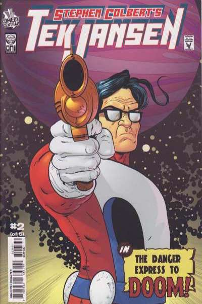 Stephen Colbert's Tek Jansen #2 Comic Books - Covers, Scans, Photos  in Stephen Colbert's Tek Jansen Comic Books - Covers, Scans, Gallery