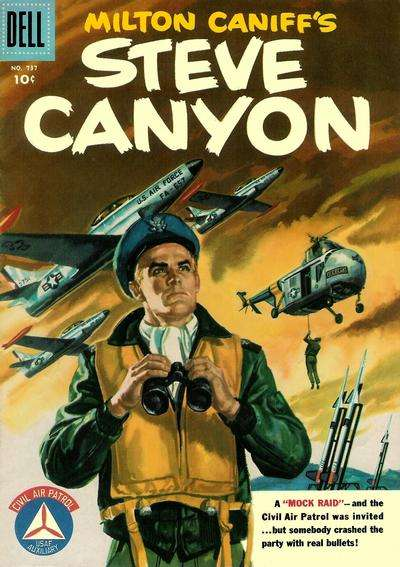 Steve Canyon #4 comic books - cover scans photos Steve Canyon #4 comic books - covers, picture gallery
