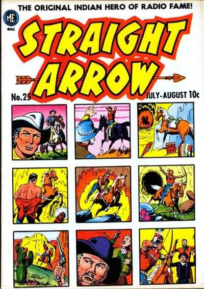 Straight Arrow #25 comic books - cover scans photos Straight Arrow #25 comic books - covers, picture gallery