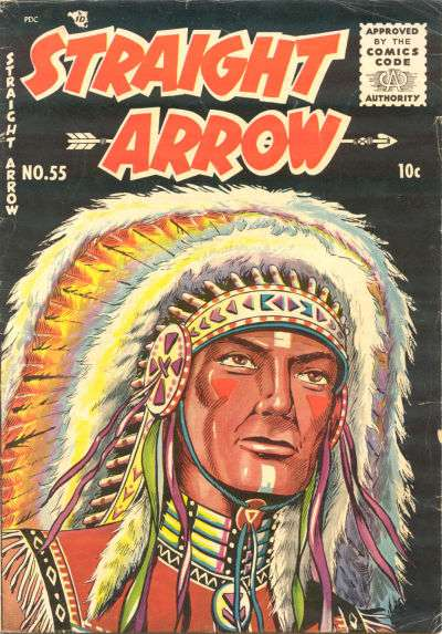 Straight Arrow #55 comic books - cover scans photos Straight Arrow #55 comic books - covers, picture gallery