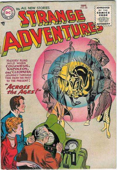 Strange Adventures #60 comic books - cover scans photos Strange Adventures #60 comic books - covers, picture gallery