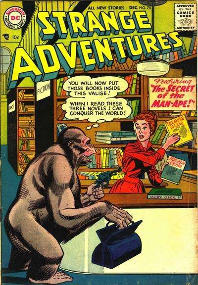 Strange Adventures #75 Comic Books - Covers, Scans, Photos  in Strange Adventures Comic Books - Covers, Scans, Gallery