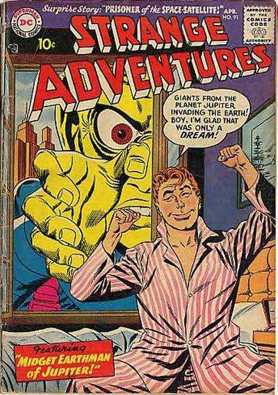 Strange Adventures #91 Comic Books - Covers, Scans, Photos  in Strange Adventures Comic Books - Covers, Scans, Gallery