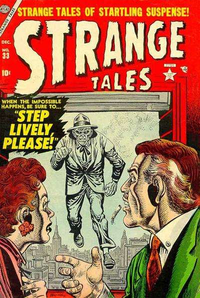 Strange Tales #33 comic books - cover scans photos Strange Tales #33 comic books - covers, picture gallery