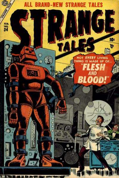 Strange Tales #34 Comic Books - Covers, Scans, Photos  in Strange Tales Comic Books - Covers, Scans, Gallery