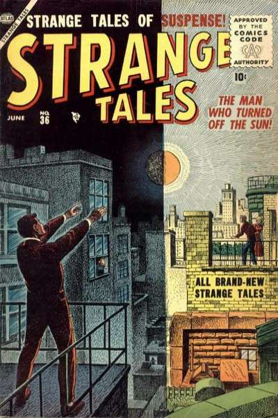 Strange Tales #36 Comic Books - Covers, Scans, Photos  in Strange Tales Comic Books - Covers, Scans, Gallery