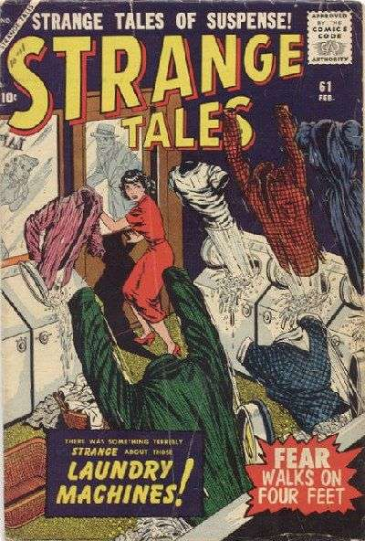 Strange Tales #61 Comic Books - Covers, Scans, Photos  in Strange Tales Comic Books - Covers, Scans, Gallery