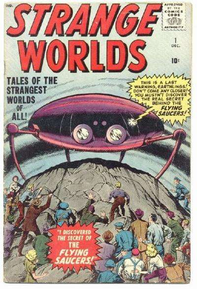 Strange Worlds comic books