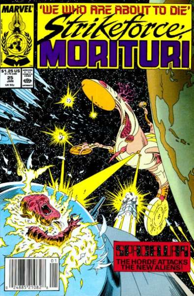 Strikeforce: Morituri #25 Comic Books - Covers, Scans, Photos  in Strikeforce: Morituri Comic Books - Covers, Scans, Gallery