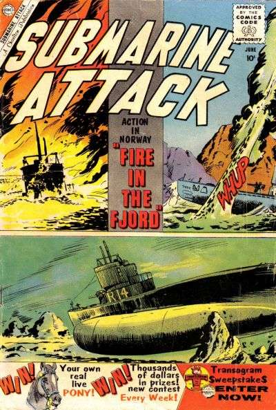 Submarine Attack #22 comic books for sale
