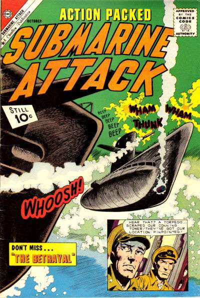 Submarine Attack #30 comic books for sale