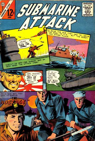 Submarine Attack #50 comic books - cover scans photos Submarine Attack #50 comic books - covers, picture gallery