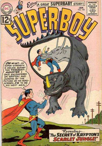 Superboy #102 comic books - cover scans photos Superboy #102 comic books - covers, picture gallery