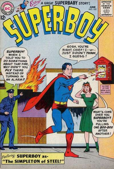 Superboy #105 comic books - cover scans photos Superboy #105 comic books - covers, picture gallery