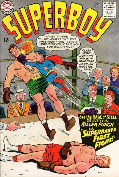 Superboy #124 comic books - cover scans photos Superboy #124 comic books - covers, picture gallery