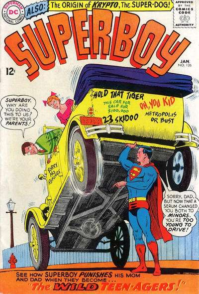 Superboy #126 Comic Books - Covers, Scans, Photos  in Superboy Comic Books - Covers, Scans, Gallery