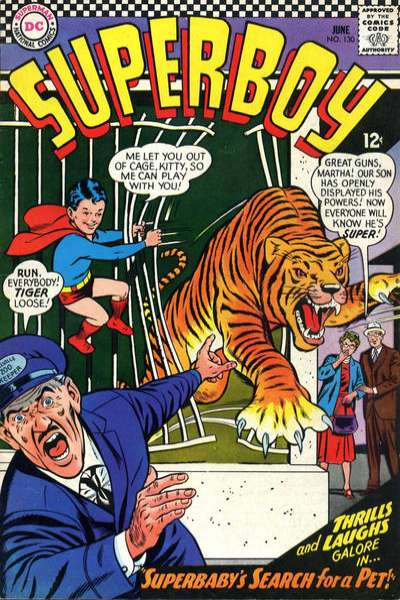 Superboy #130 comic books - cover scans photos Superboy #130 comic books - covers, picture gallery