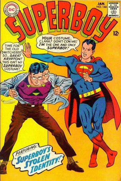 Superboy #144 comic books - cover scans photos Superboy #144 comic books - covers, picture gallery