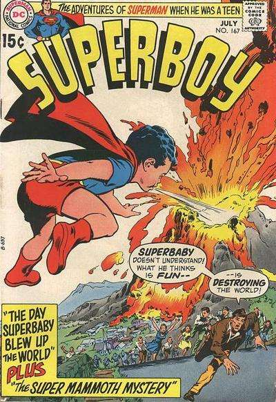 Superboy #167 Comic Books - Covers, Scans, Photos  in Superboy Comic Books - Covers, Scans, Gallery