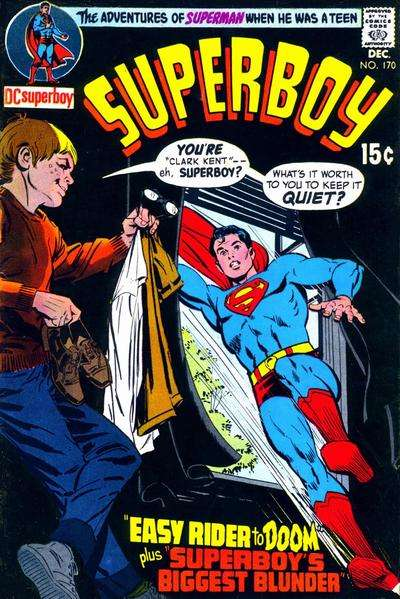 Superboy #170 comic books - cover scans photos Superboy #170 comic books - covers, picture gallery