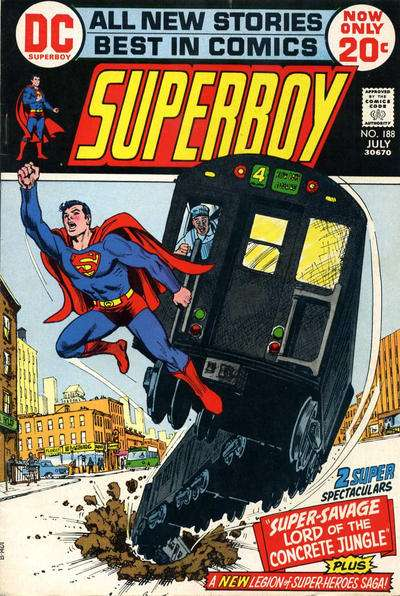 Superboy #188 comic books - cover scans photos Superboy #188 comic books - covers, picture gallery